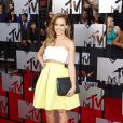 Jessica Alba sur le tapis rouge de la cérémonie des MTV Movie Awards à Los Angeles, le 13 avril 2014.
