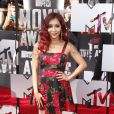 Nicole Polizzi sur le tapis rouge de la cérémonie des MTV Movie Awards à Los Angeles, le 13 avril 2014.