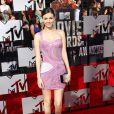 Victoria Justice sur le tapis rouge de la cérémonie des MTV Movie Awards à Los Angeles, le 13 avril 2014.