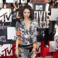 Kat Graham sur le tapis rouge de la cérémonie des MTV Movie Awards à Los Angeles, le 13 avril 2014.