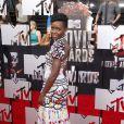Lupita Nyong'o sur le tapis rouge de la cérémonie des MTV Movie Awards à Los Angeles, le 13 avril 2014.