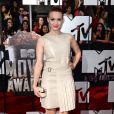 Holland Roden sur le tapis rouge de la cérémonie des MTV Movie Awards à Los Angeles, le 13 avril 2014.