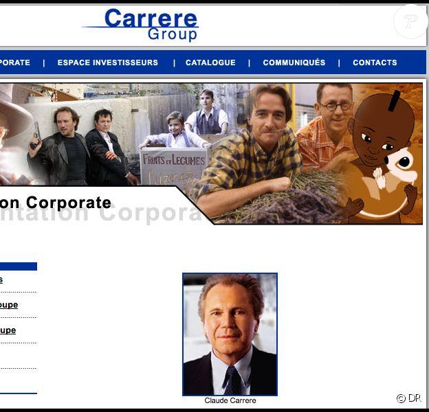 Claude Carrère - Capture d'écran du site internet de Carrère Group