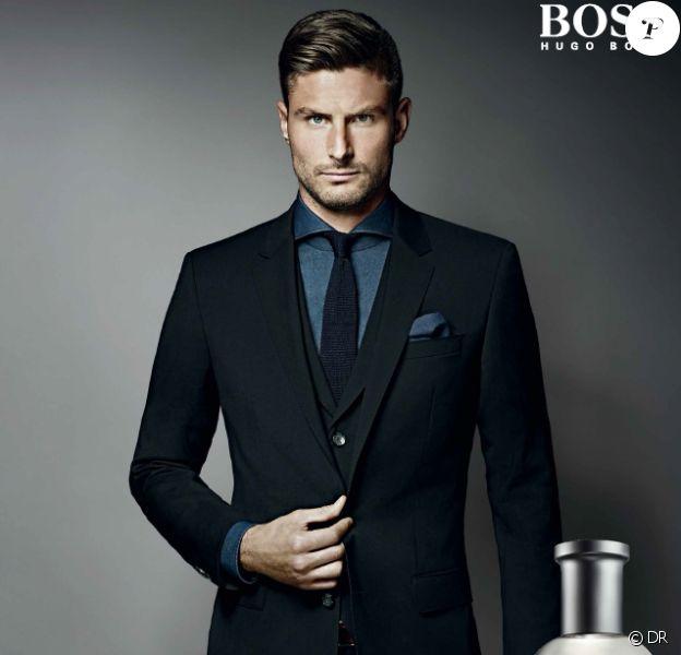 Olivier Giroud, nouvel ambassadeur du parfum Boss Bottled