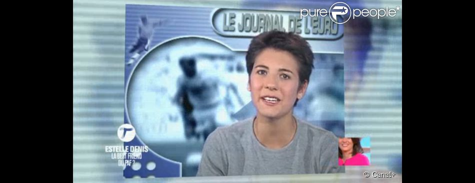 Estelle Denis, à ses débuts à la télévision - images diffusée dans Le Tube sur Canal+, le samedi 19 avril 2014.