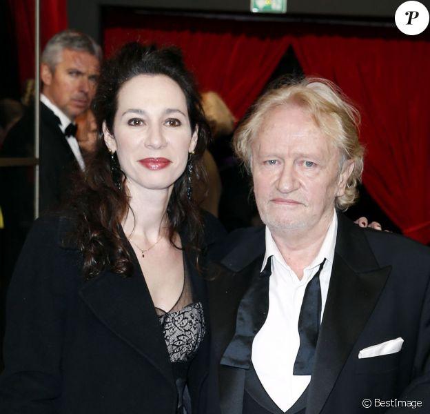 Niels Arestrup et sa femme Isabelle Le Nouvel lors des arrivées à la cérémonie des César le 28 février 2014