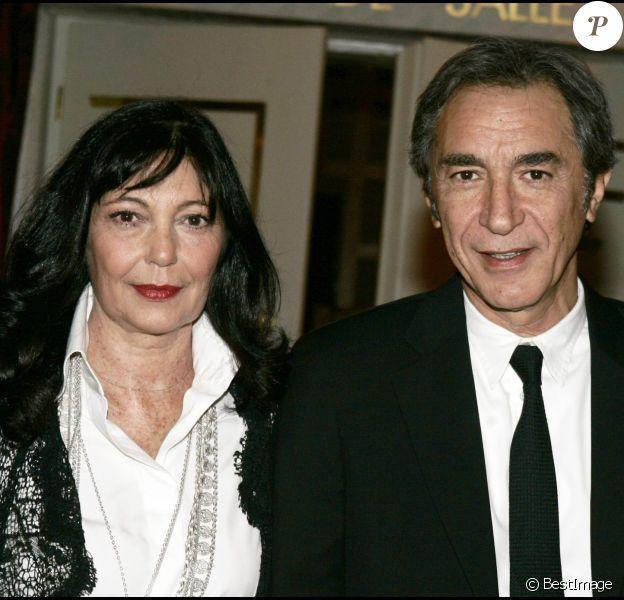 Richard Berry et sa soeur Marie à Crans Montana le 26 février 2006.