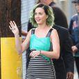 """Katy Perry arrive sur le plateau de l'émission """"Jimmy Kimmel Live!"""" à Hollywood, le 21 avril 2014."""