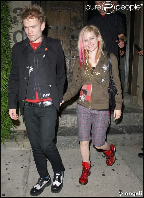 avril lavigne and deryck whibley. Avril Lavigne et son mari