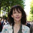 Exclusif - Sophie Marceau arrive à l'enregistrement TV de 'Vivement Dimanche' au Studio Gabriel à Paris le 9 avril 2014