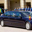 Visite inaugurale du roi Philippe et de la reine Mathilde de Belgique en Suède, le 29 avril 2014 à Stockholm.