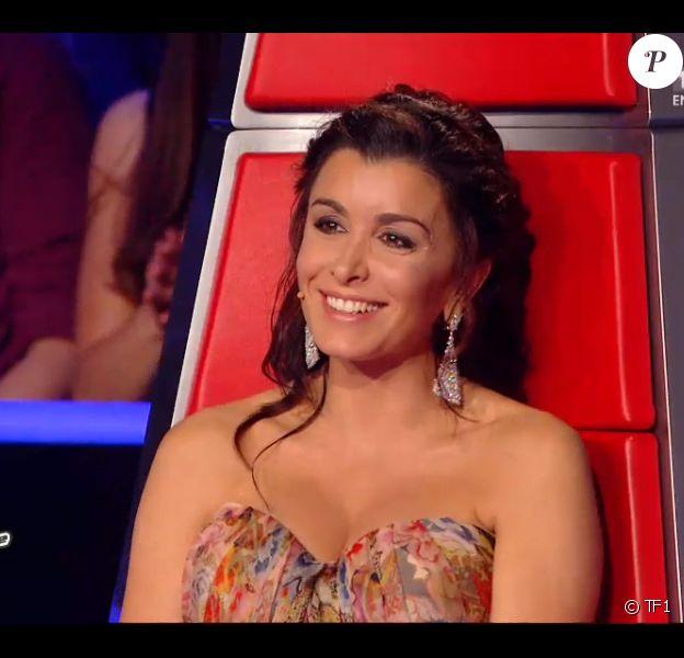 Jenifer, rayonnante, le samedi 3 mai 2014 sur TF1.