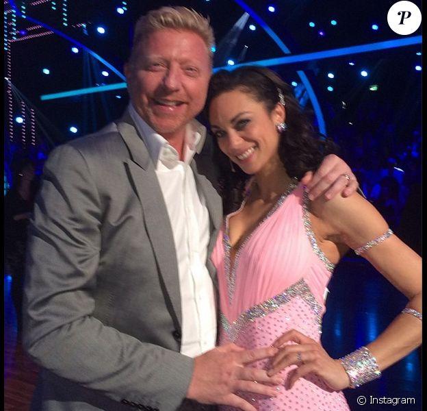 Boris Becker et sa belle Lilly Kerssenberg sur le plateau de l'émission Let's Dance, le 2 mai 2014