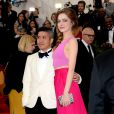 Thakoon Panichgul et Emma Stone assistent au MET Gala au Metropolitan Museum of Art. New York, le 5 mai 2014.