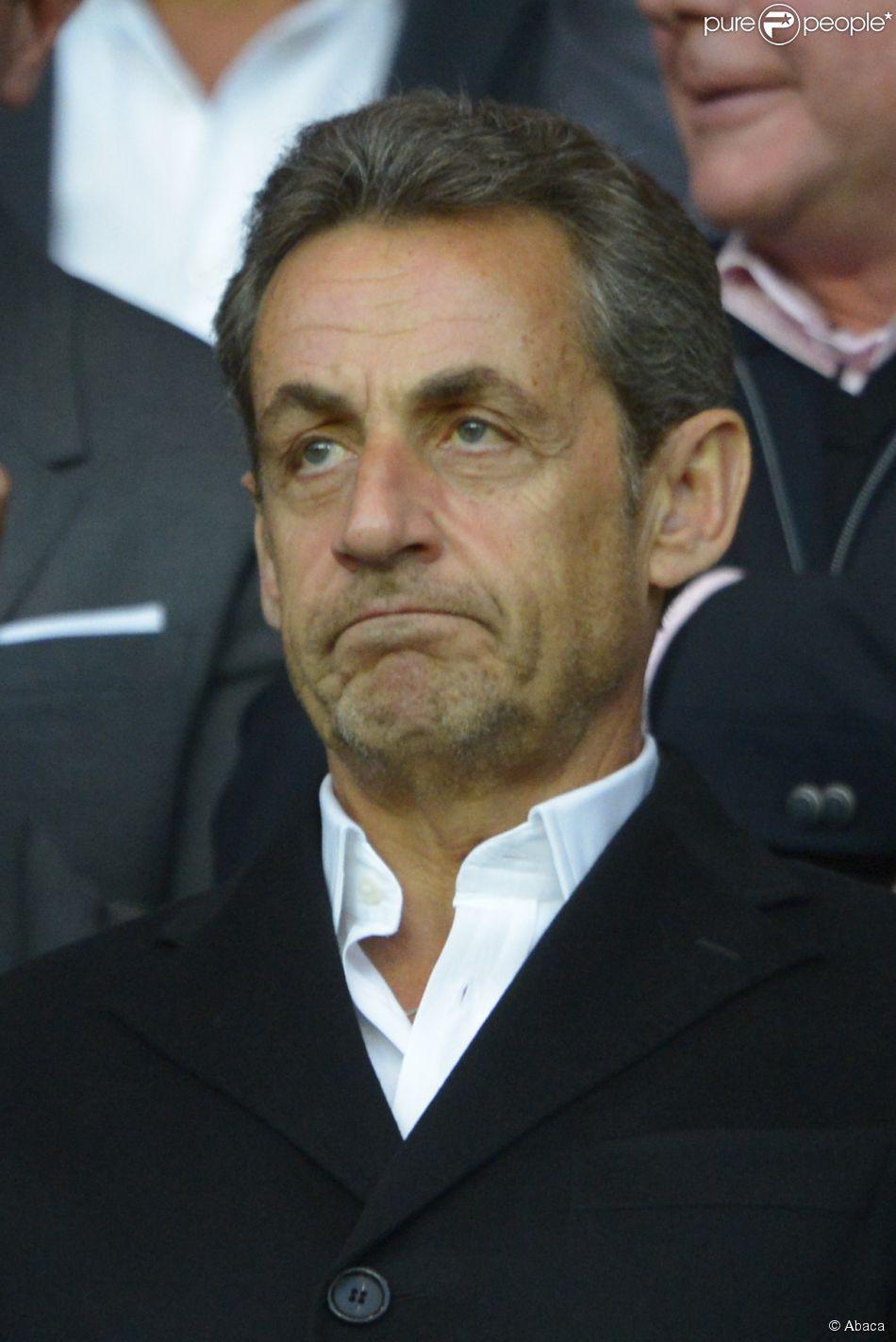 Nicolas Sarkozy lors du match du PSG perdu face à Rennes (2-1), le 7 mai 2014 au Parc des Princes à Paris