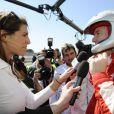 Le prince Albert II de Monaco est venu assister aux qualifications d'une épreuve de championnat WTCC, au circuit Paul Ricard du Castellet, auxquelles le pilote Sébastien Loeb participe. Le 19 avril 2014. Il s'est fait interviewer par l'ex Miss France Laury Thilleman.
