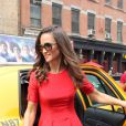Pippa Middleton sortant d'un taxi new-yorkais, le 6 septembre 2012.