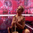 Donatan et Cleo et leurs danseuses, représentantes de la Pologne, lors du 59e concours Eurovision de la chanson, le 10 mai 2014 à Copenhague.