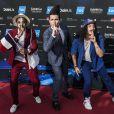 """Le groupe """"Twin-Twin"""", qui représente la France avec la chanson """"Moustache"""", lors de la demi-finale de l'Eurovision 2014 à Copenhague, le 6 mai 2014."""