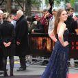 """Elizabeth Olsen à la première du film """"Godzilla"""" à Londres le 11 mai 2014."""