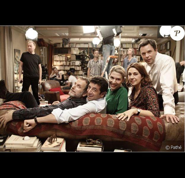 Le film Le Prénom (tournage) avec Charles Berling, Patrick Bruel, Judith El Zein, Valérie Benguigui et Guillaume De Tonquédec