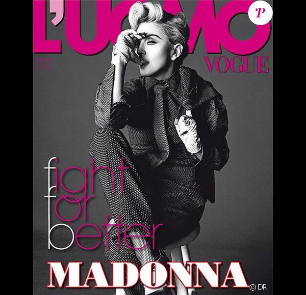 Madonna photographiée par Tom Munro pour L'Uomo Vogue, mai-juin 2014.