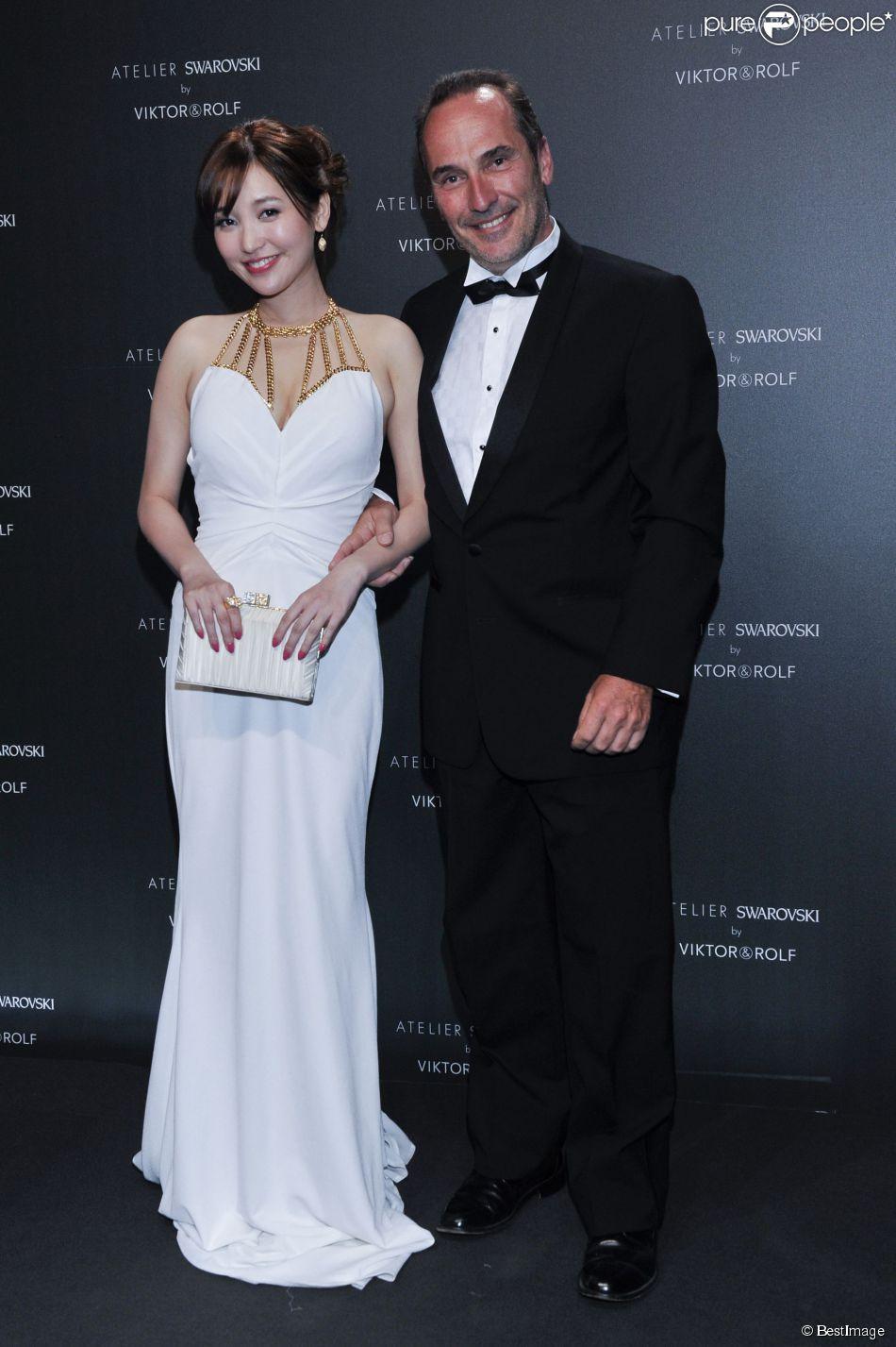 Jin Sha et Pitof - Soirée Swarovski et Viktor & Rolf à l'Ecrin lors du 67e Festival international du film de Cannes, le 16 mai 2014