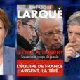 Natacha Polony face à Jean-Michel Larqué dans On n'est pas couché sur France 2, le samedi 17 mai 2014.