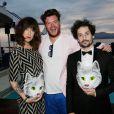 Daphné Bürki, Cedric Couvez et Gunther Love lors de la soirée Reebok durant le Festival de Cannes le 17 mai 2014.