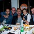 L'equipe du film Babysitting à la soirée Reebok sur le bateau de la Villa Schweppes pour les 25 ans de la chaussure Pump lors du Festival de Cannes, le 17 mai 2014