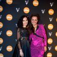 Aïda Touihri et Laurence Roustandjee à la soirée Reebok sur le bateau de la Villa Schweppes pour les 25 ans de la chaussure Pump lors du Festival de Cannes, le 17 mai 2014