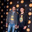 Orelsan et Gringe à la soirée Reebok sur le bateau de la Villa Schweppes pour les 25 ans de la chaussure Pump lors du Festival de Cannes, le 17 mai 2014