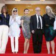 """Membres du jury : Carole Bouquet, Leila Hatami, Do-yeon Jeon, Thierry Frémaux (Délégué général du Festival), Jane Campion et Sofia Coppola - Montée des marches du film """"Les Merveilles"""" (Le Meraviglie) lors du 67e Festival du film de Cannes le 18 mai 2014"""