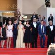 "Alice Rohrwacher, Monica Bellucci, Sam Louwyck, Maria Alexandra Lungu, Alba Rohrwacher, Agnese Graziani, Eva Morrow, Maria-Stella Morrow, Luis Huilca - Montée des marches du film ""Les Merveilles"" (Le Meraviglie) lors du 67e Festival du film de Cannes le 18 mai 2014"