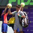 Novak Djokovic avant sa finale du tournoi de Key Biscayne, le 30 mars 2014