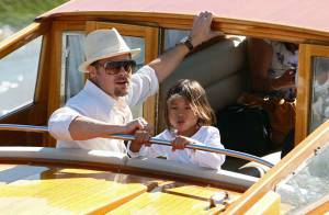 REPORTAGE PHOTOS : Brad Pitt est arrivé en Italie sans Angelina mais... (réactualisé)