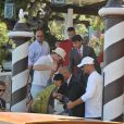 Brad Pitt et ses fils arrivent à Venise