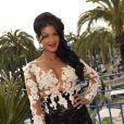 """Exclusif - Ayem Nour est venue essayer des bijoux de """"Grisogono"""" dans la suite """"Terrasse les Oliviers"""" du célèbre joaillier à l'hôtel Martinez à Cannes, le 16 mai 2014."""