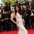 """Aishwarya Rai - Montée des marches du film """"The Search"""" lors du 67 ème Festival du film de Cannes, le 21 mai 2014."""