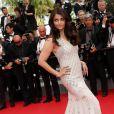 """L'actrice indienne, sublime, Aishwarya Rai - Montée des marches du film """"The Search"""" lors du 67 ème Festival du film de Cannes, le 21 mai 2014."""