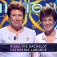 Roselyne Bachelot et Catherine Laborde dans Qui veut gagner des millions ? sur TF1, le vendredi 23 mai 2014.