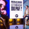 Daphné Bürki et Nicolas Bedos dans  Le Tube , sur Canal+, le samedi 24 mai 2014.