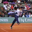 Gaël Monfils lors de la journées des Enfants de Roland-Garros, à Roland-Garros, le 24 mai 2014 à Paris