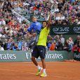 Laurent Lokoli lors de la journées des Enfants de Roland-Garros, à Roland-Garros, le 24 mai 2014 à Paris