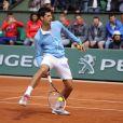 Novak Djokovic lors de la journées des Enfants de Roland-Garros, à Roland-Garros, le 24 mai 2014 à Paris