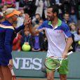 Kristina Mladenovic lors de la journées des Enfants de Roland-Garros, à Roland-Garros, le 24 mai 2014 à Paris