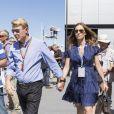 Mika Hakkinen et sa compagne Marketa Remesova dans le paddock du Grand Prix de Monaco, le 25 mai 2014