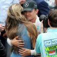 Nico Rosberg et Vivian Siboldà l'issue du Grand Prix de Monaco le 25 mai 2014