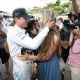 Nico Rosberg et Vivian Sibold à l'issue du Grand Prix de Monaco le 25 mai 2014