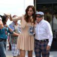 Jacky Stewart et Tasha de Vasconcelos à l'issue du Grand Prix de Monaco le 25 mai 2014